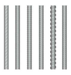 Seamless steel rebars reinforcements set vector image