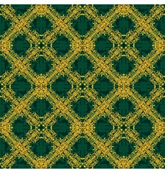 Seamless yellow and green pattern in arabic or vector