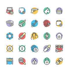 Security Cool Icons 5 vector