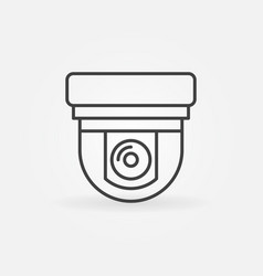 security surveillance camera linear icon vector image