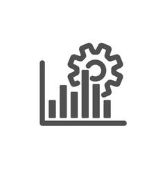 Seo graph icon search engine optimization sign vector