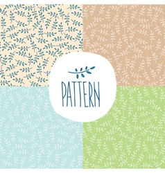 Set of patterns with twigs vector image