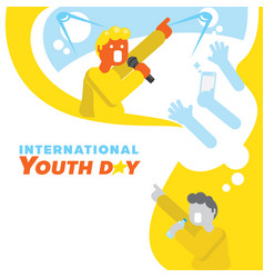 Singer star dream youth day background vector