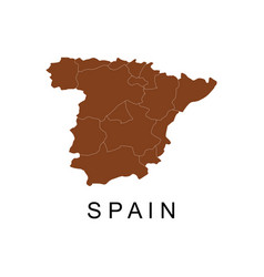 Spain map with regions vector
