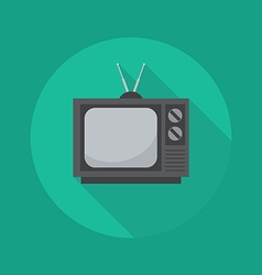 Technology Flat Icon Television vector image