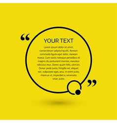Text bubble on a yellow background vector image