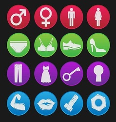 toilet sign icon gradient style vector image vector image