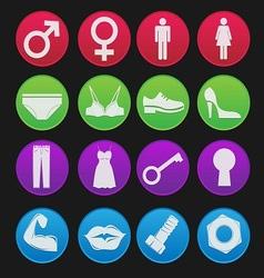 Toilet sign icon gradient style vector