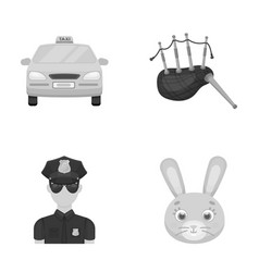 Transport security and other monochrome icon in vector