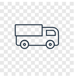 Truck toy concept linear icon isolated on vector