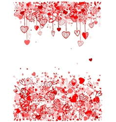 Valentine frame design with space for your text vector image