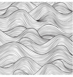 Wave line pattern sea water texture abstract vector