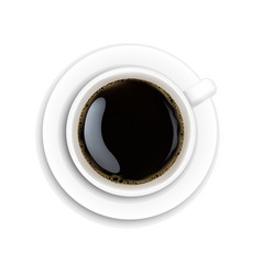 white cup coffee vector image