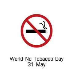 World no tobacco day smoking logo vector