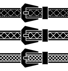 buckle belt black symbols vector image