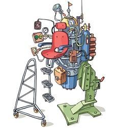 Cartoon Custom Rocket vector image vector image