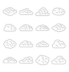 clouds icons set outline style vector image
