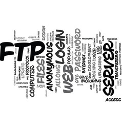 Ftp file transfer protocol text background word vector