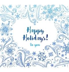 Happy Holidays greeting card vector image vector image