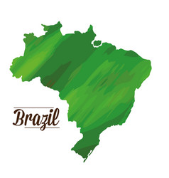 isolated brazilian map vector image