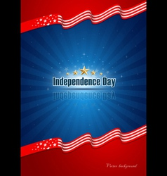 poster independence day design background vector image vector image