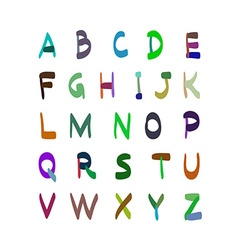 Alphabet hand drawn Set of icons vector image