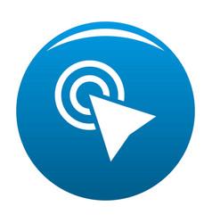 cursor click element icon blue vector image