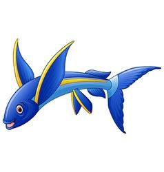 Flying Fish Cartoon Character vector image vector image