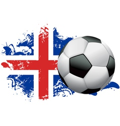 Iceland Soccer Grunge vector image vector image