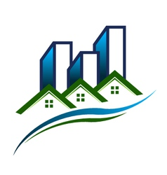 Real Estate Community Logo vector image vector image