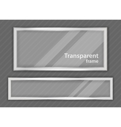 Transparent frame vector image vector image