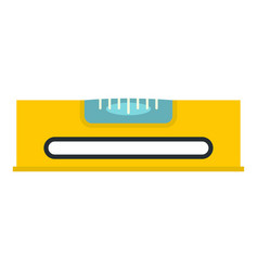 yellow working tool bubble level icon isolated vector image vector image