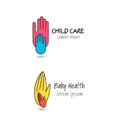child care baby health charity family vector image