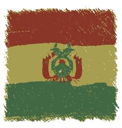 Flag of Bolivia handmade square shape vector image vector image