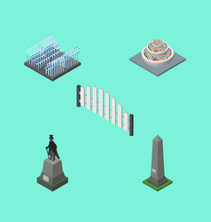 isometric architecture set of barricade dc vector image vector image