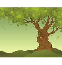 Lonely tree background vector image