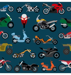 Motorcycles background seamless vector image