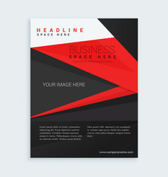 red and black business brochure template vector image
