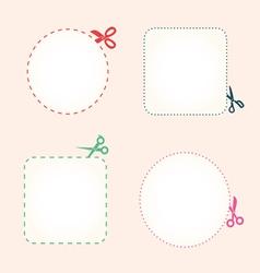 set of cutting scissors vector image