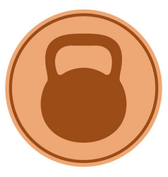 weight bronze coin vector image vector image