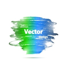 Brochure Watercolor Grunge Design Template vector image vector image