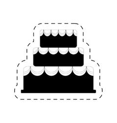 Cake bakery dessert celebration party pictogram vector