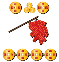chinese firecrackers vector image