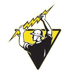 electrician symbol vector image vector image