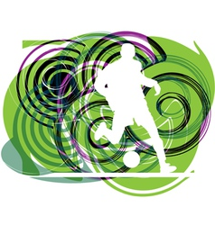 Football player in action vector image vector image