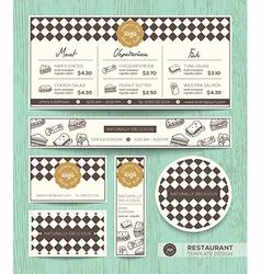 Restaurant cafe sandwich menu design template vector image