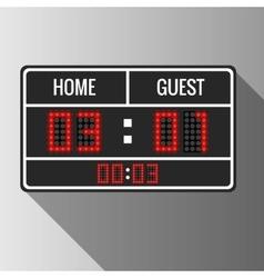 Sport scoreboard vector image vector image
