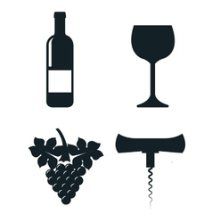 wine concept set icons isolated icon design vector image