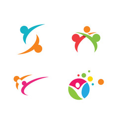 adoption and community care logo template icon vector image