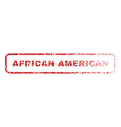 African-american rubber stamp vector